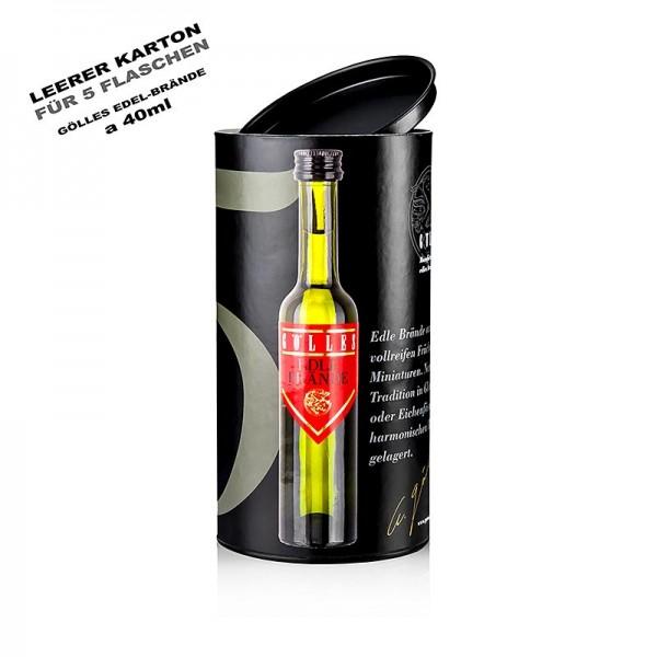Gölles Edelbrand - 5er Präsentkarton für Miniatur-Edelbrand-Set - 5 x 40 ml ohne Inhalt Gölles