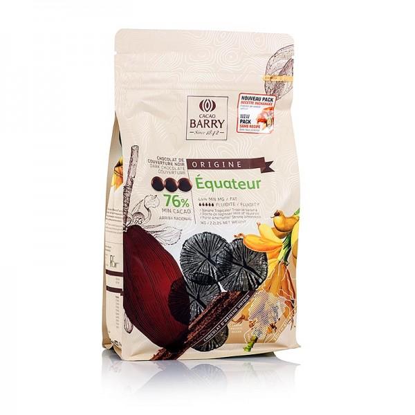 Cacao Barry - Origine Ecuador dunkle Schokolade Callets 76% Kakao