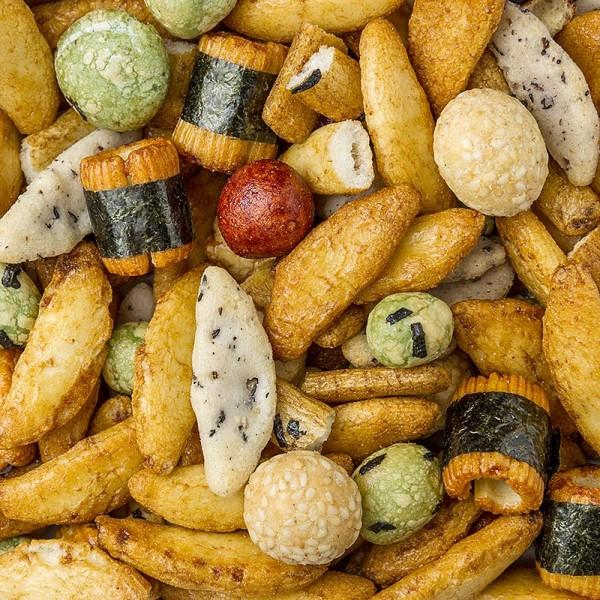 Deli-Vinos Snack Selection - Sushi-Nori Knabbermix mit Soja Seetang und Erdnüssen