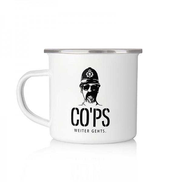 CO´PS drinks - Cops Metallbecher Knast Tasse mit Logo
