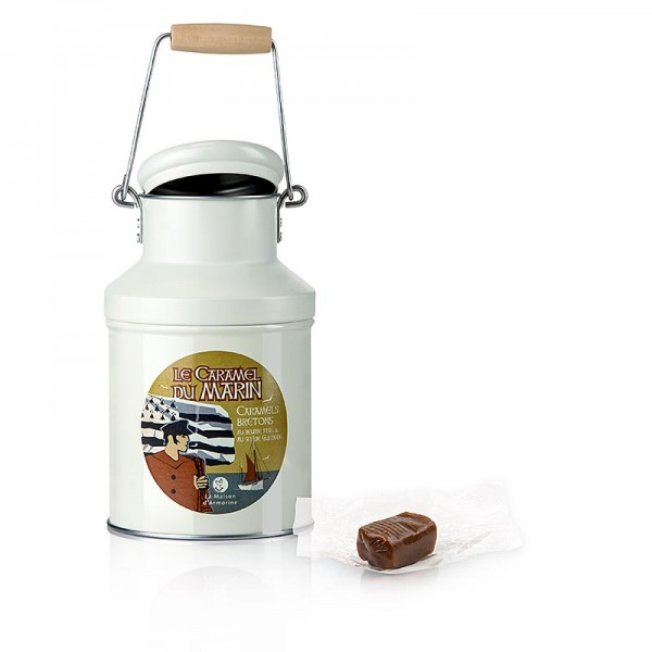 Caramels Bretons - Caramels Bretons - Karamell-Bonbons mit Butter und Meersalz in Milchkanne