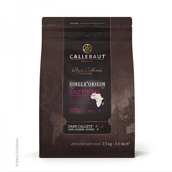 Callebaut - Origine Sao Thomé dunkle Couverture Callets 70% Kakao