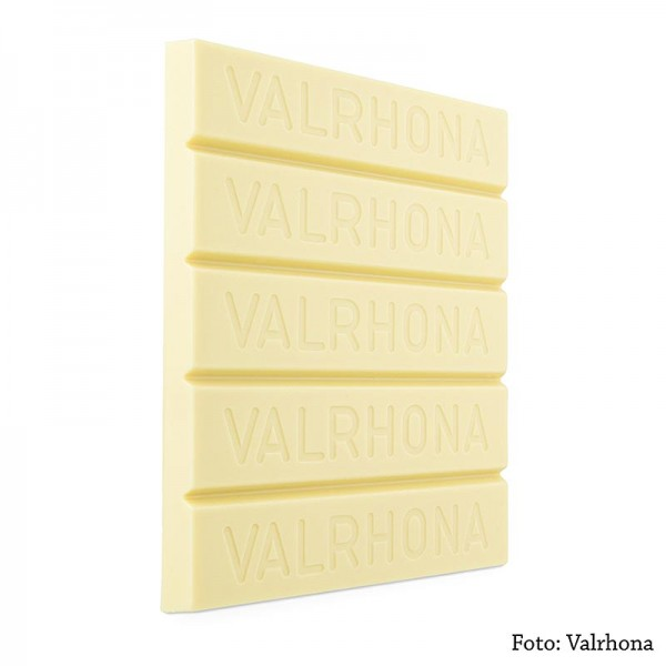 Valrhona - Ivoire weiße Couverture Block 35% Kakaobutter 21% Milch