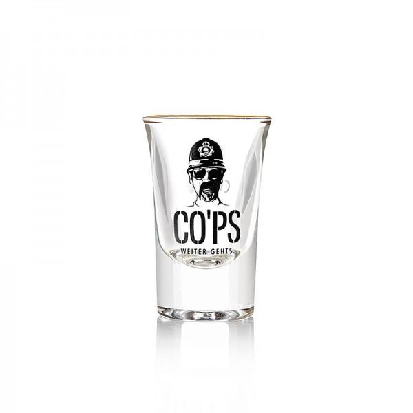 CO´PS drinks - Cops Shotglas 2cl mit Goldrand