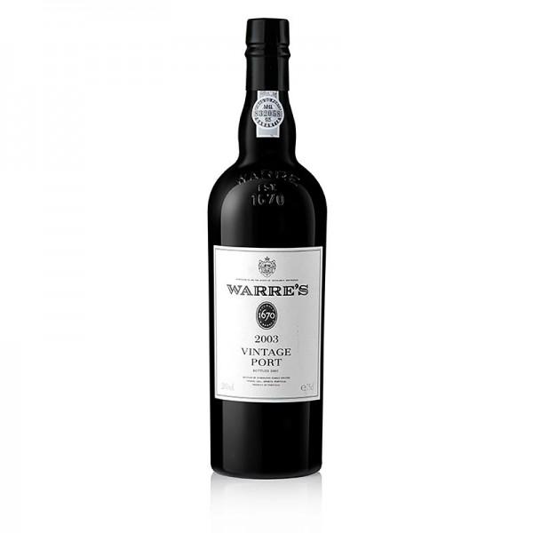 Warre´s Port - 2003er Vintage Portwein süß 20% vol. Warre 93PP