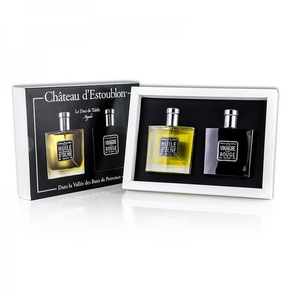 Chateau d´Estoublon - Natives Olivenöl Extra & Rotweinessig Duo de table Chateau d´Estoublon