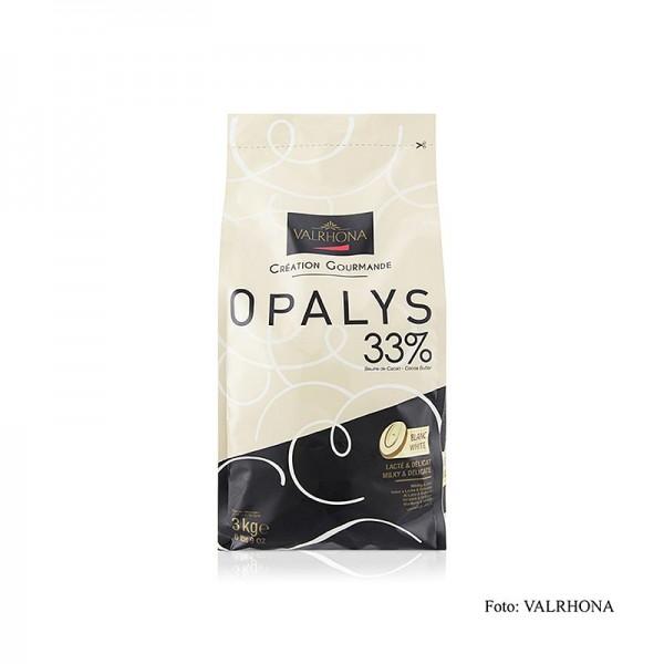 Valrhona - Opalys weiße Couverture Callets 33% Kakaobutter
