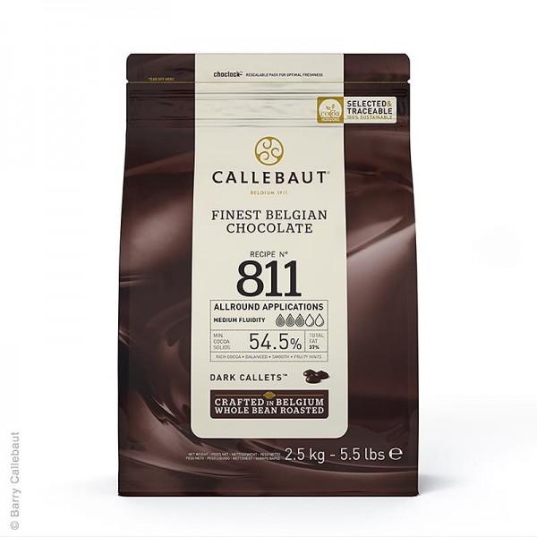 Callebaut - Zartbitterschokolade Callets 54.5% Kakao