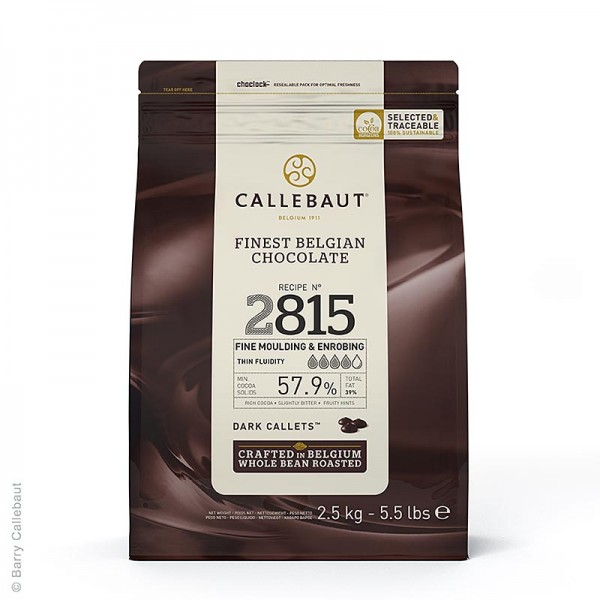 Callebaut - Zartbitterschokolade Excellent Callets 57.7% Kakao