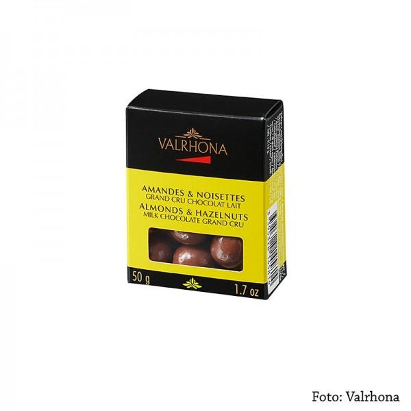 Valrhona - Valrhona Equinoxe Kugeln - Mandeln/Haselnüsse in Milchschokolade