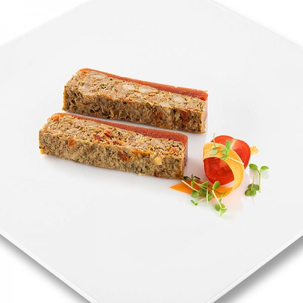 Rougie - Terrine von Entenfleisch mit glasierten Tomaten und Pesto Rougié