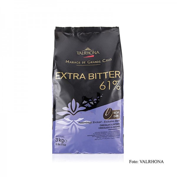 Valrhona - Extra Bitter dunkle Couverture Callets 61% Kakao