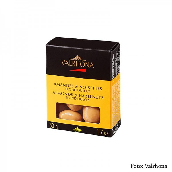 Valrhona - Valrhona Equinoxe Kugeln - Mandeln/Haselnüsse in Dulcey Schokolade
