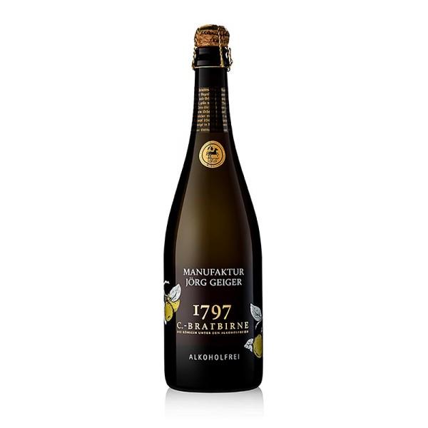 Manufaktur Jörg Geiger - Jörg Geiger Birnenschaumwein von der Champagner Bratbirne alkoholfrei
