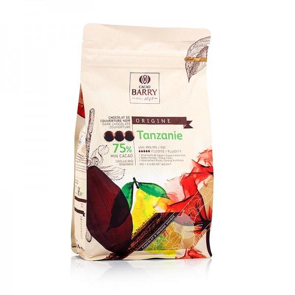 Cacao Barry - Origine Tanzanie dunkle Schokolade Callets 75% Kakao