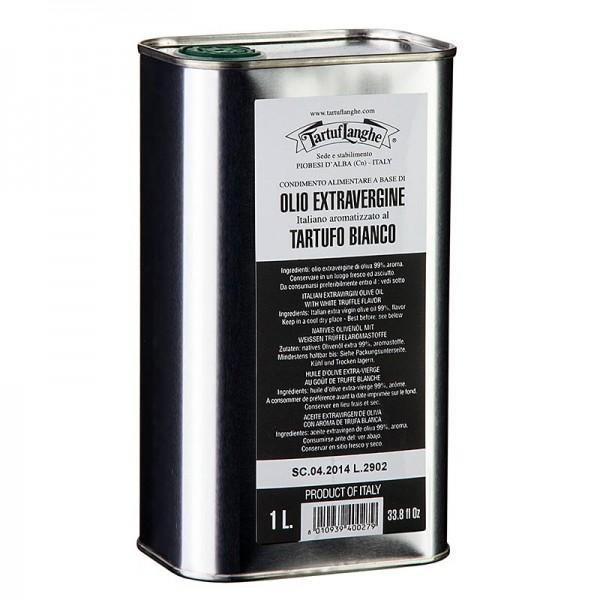 Tartuflanghe - Olivenöl Extra Vergine mit weißer Trüffel-Aroma (Trüffelöl) Tartuflanghe
