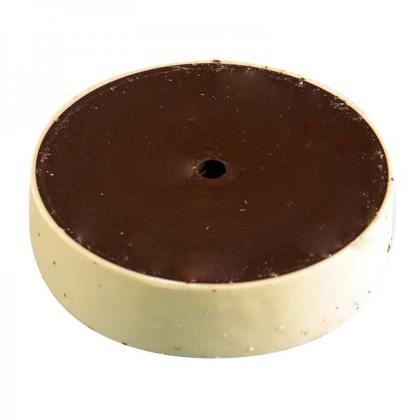 Deli-Vinos Patisserie - Choco Rolles - Zartbitterschokolade mit Ring aus weißer Vanilleschokolade