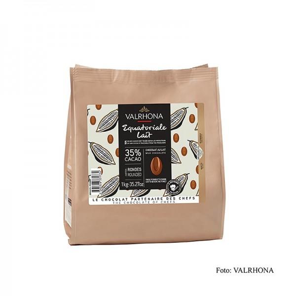 Valrhona - Valrhona Equatoriale Lait 35% Callets Milchschokolade Couverture