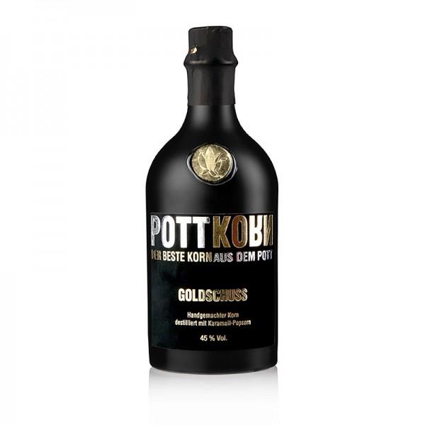 Pottkorn - Pottkorn - Goldschuss  Korn destilliert aus Karamell Popcorn 45% vol.