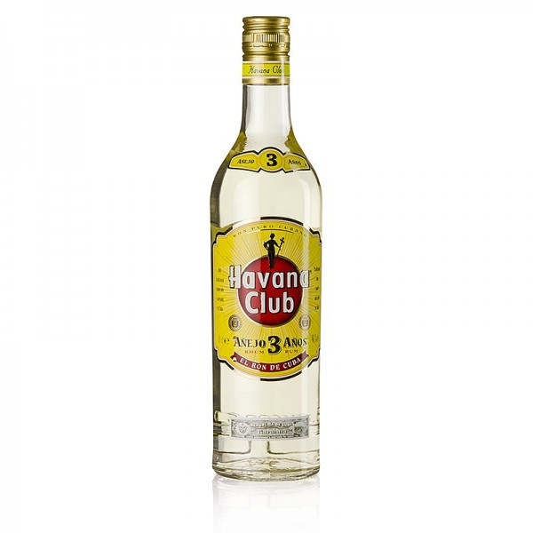 Havana Club - Havana Club Anejo 3 Anos Rum 3 Jahre goldgelb 40% vol.