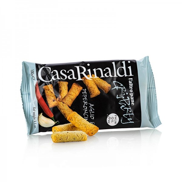 Casa Rinaldi - Grisparty - Mini Grissini Knabbergebäck mit Knoblauch& Chili Casa Rinaldi