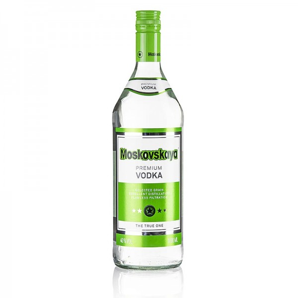 Moskovskaya - Moskovskaya Vodka Russland 38 % Vol. 1.0 Liter (Markenprodukt)