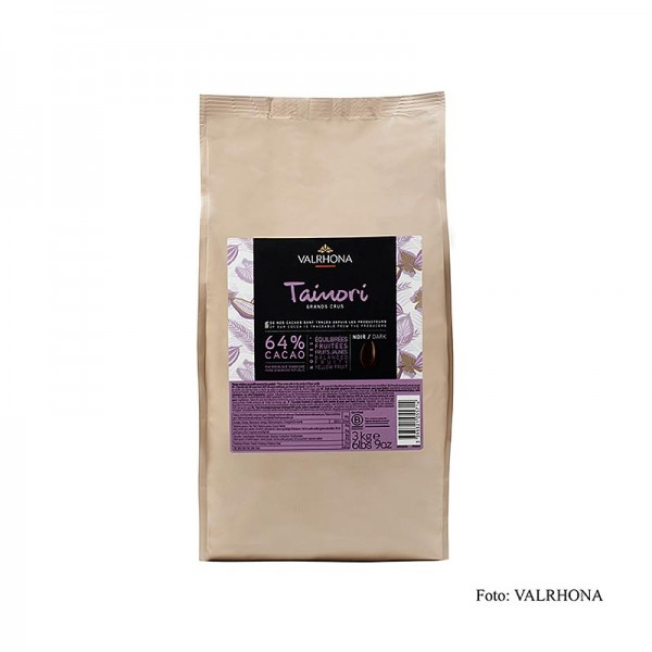 Valrhona - Tainori Grand Cru Couverture Callets 64% Kakao Dom. Republik