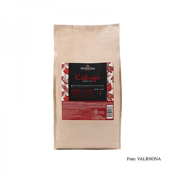 Valrhona - Kalingo dunkle Couverture Callets 65% Kakao reine Grenada Bohnen