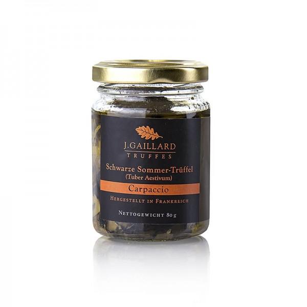 Truffes Delices - Sommertrüffel Carpaccio Trüffelscheiben in extra nativem Olivenöl Gaillard