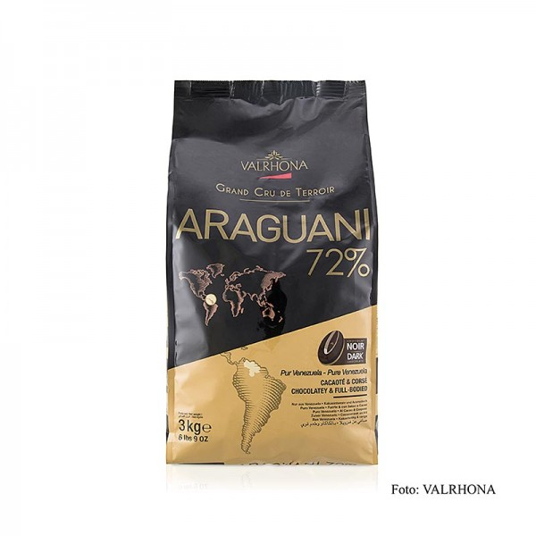 Valrhona - Araguani Grand Cru dunkle Couverture Callets 72% Kakao Venezuela