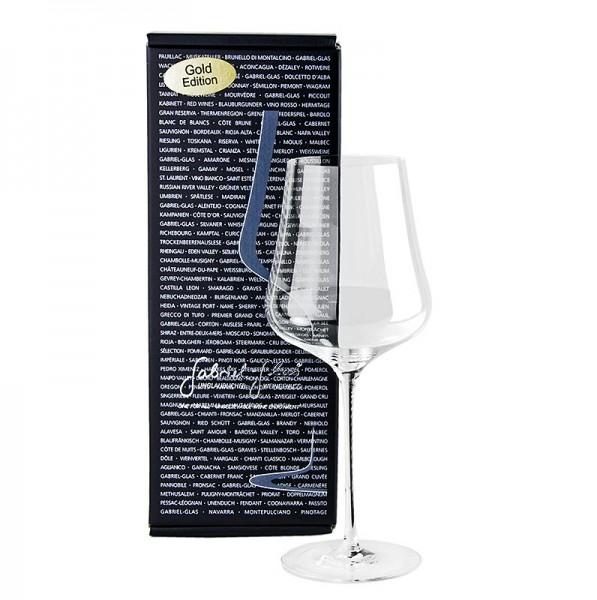 Gabriel Glas - GABRIEL-GLAS© GOLD-Edition Weinglas 510 ml mundgeblasen im Geschenkkarton
