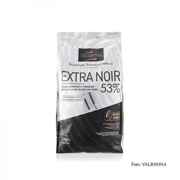 Valrhona - Extra Noir dunkle Couverture Callets 53% Kakao