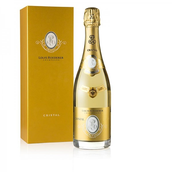 Roederer Cristal - Champagner Roederer Cristal 2013er Brut 12% vol. mit Präsentbox 96 PP