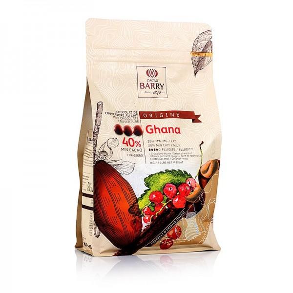 Cacao Barry - Origine Ghana Vollmilch Schokolade Callets 40% Kakao
