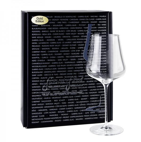 Gabriel Glas - GABRIEL-GLAS© GOLD-Edition Weingläser 510 ml mundgeblasen im Geschenkkarton