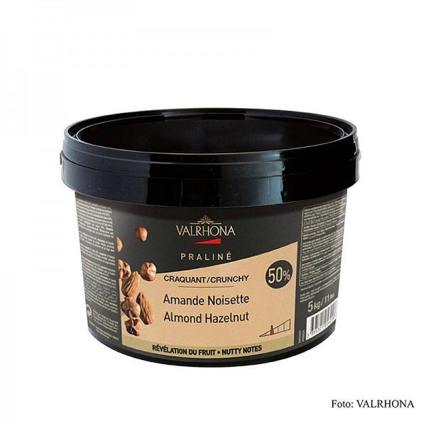 Valrhona - Praliné Masse knusprig 25% Haselnuss 25% Mandel intensive Nussnoten
