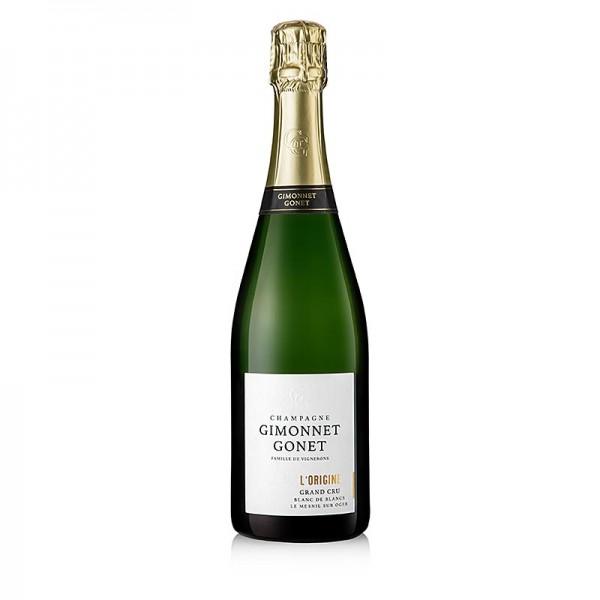 Gimonnet Gonet - Champagner Gimonnet Gonet l´Origine Blanc de Blanc Grand Cru brut 12% vol.