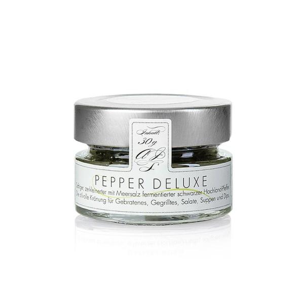 Pepper Deluxe - Schwarzer Pfeffer mit Meersalz fermentiert zerkleinert PEPPER DELUXE