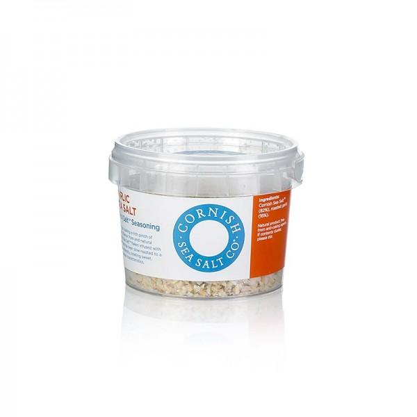 Cornish Sea Salt - Cornish Sea Salt Meersalzflocken mit geröstetem Knoblauch aus Cornwall/England