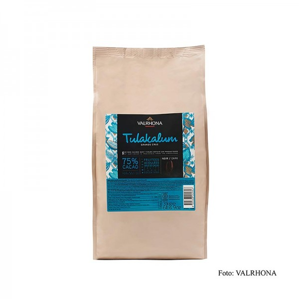 Valrhona - Valrhona Tulakalum 75% Bitter Couverture Callets 3kg