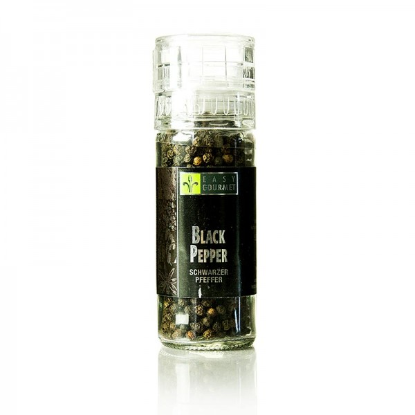 Easy Gourmet - Gourmet-Gewürzmühle Black Pepper/schwarzer Pfeffer Easy Gourmet
