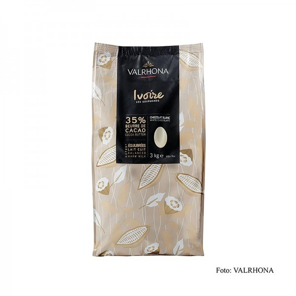 Valrhona - Ivoire weiße Couverture Callets 35% Kakaobutter 21% Milch