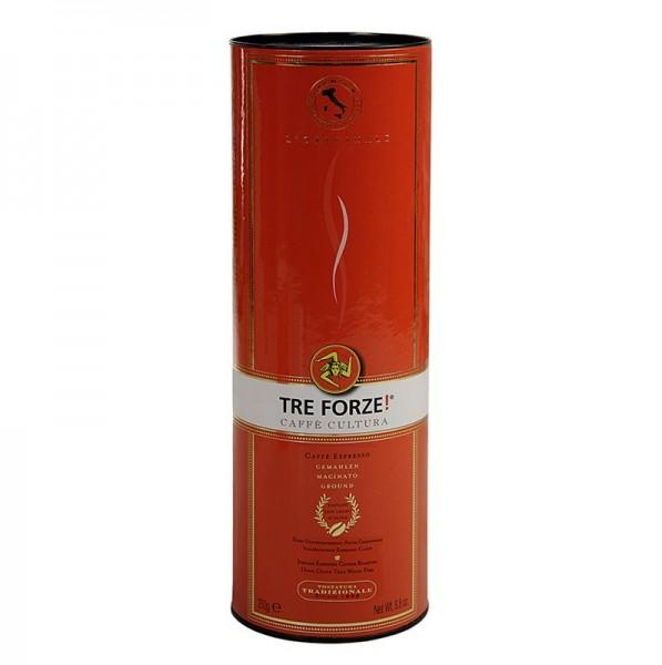 TRE FORZE! - Espresso - TRE FORZE! aus Sizilien gemahlen über Olivenholzfeuer geröstet