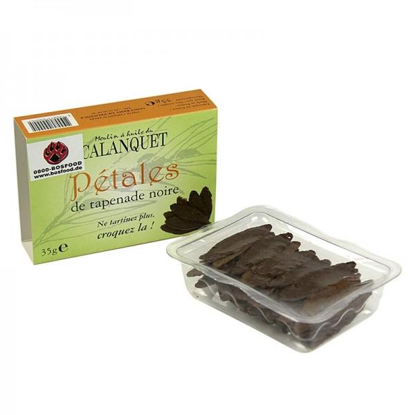Deli-Vinos Snack Selection - Oliven-Tapenadenblätter schwarz getrocknet ca. 40-45 Blätter pikanter Snack