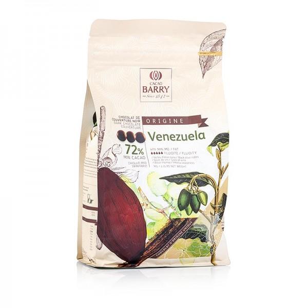 Cacao Barry - Origine Venezuela dunkle Schokolade Callets 72% Kakao